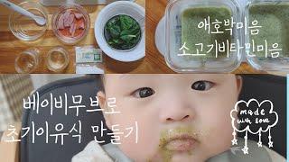 이유식마스터기 베이비무브로 초기이유식 만들기 (feat…