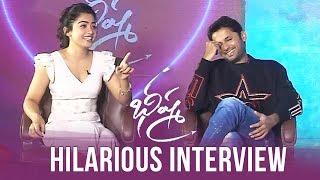 Nithin & Rashmika Valentine's Day Special Interview About Bheeshma | Manastars