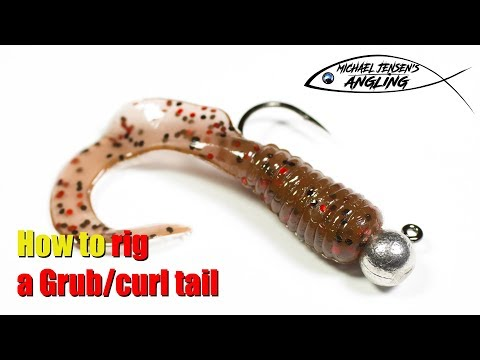 How To Rig A Grub / Curl Tail Jig - Basic Angling Tips
