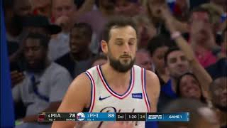Jj Redick & Marco Belinelli Full Game 1 Highlights 76ers Vs Heat 2018 Playoffs   53 Pts Combined!