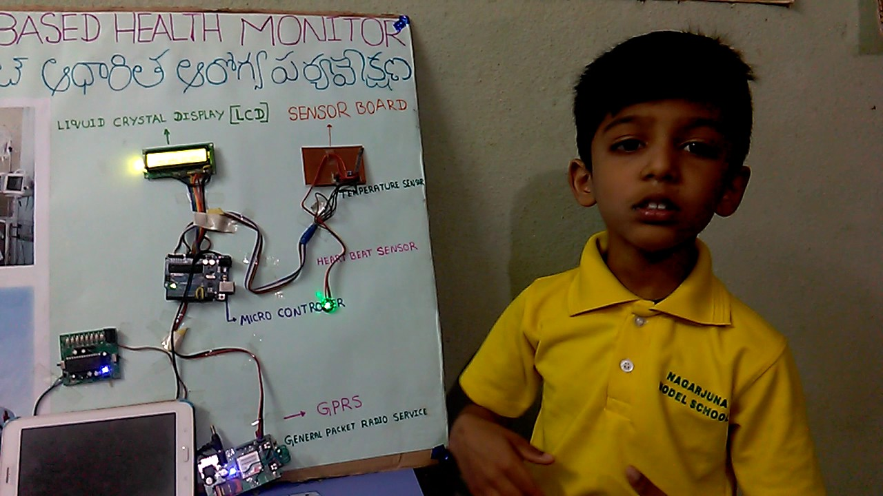 IOT Based Health Monitoring project by Lokshith #1