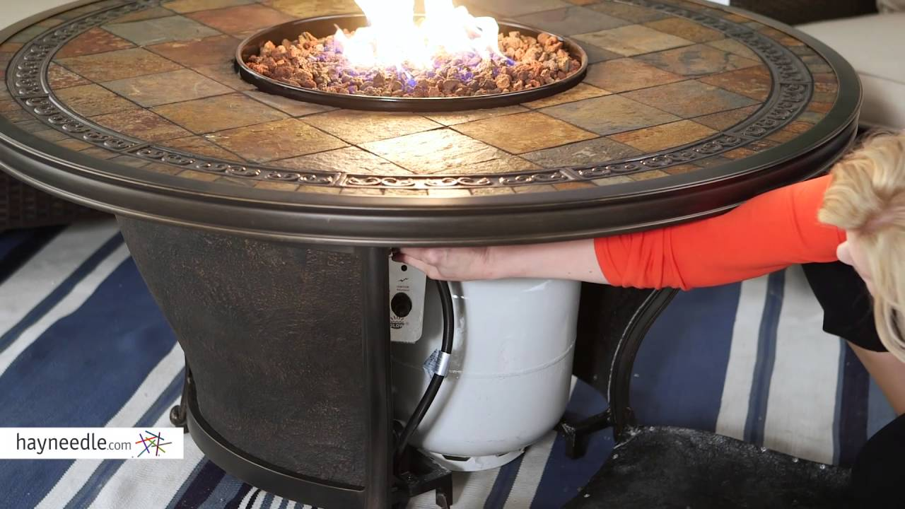Red Ember By Agio Tempe 48 In Round Fire Pit Table With Free Cover Product Review Video