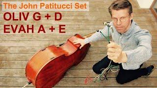 The Pirastro John Patitucci Combination: G/D Oliv and A/E Evah Pirazzi - Double Bass Strings