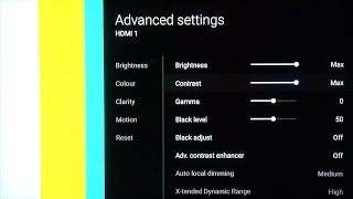 Sony KD-65XD9305 Best TV Picture Settings