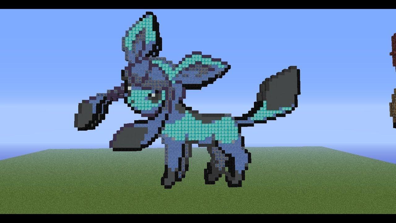 minecraft pixel art tutorial 72 glaceon youtube