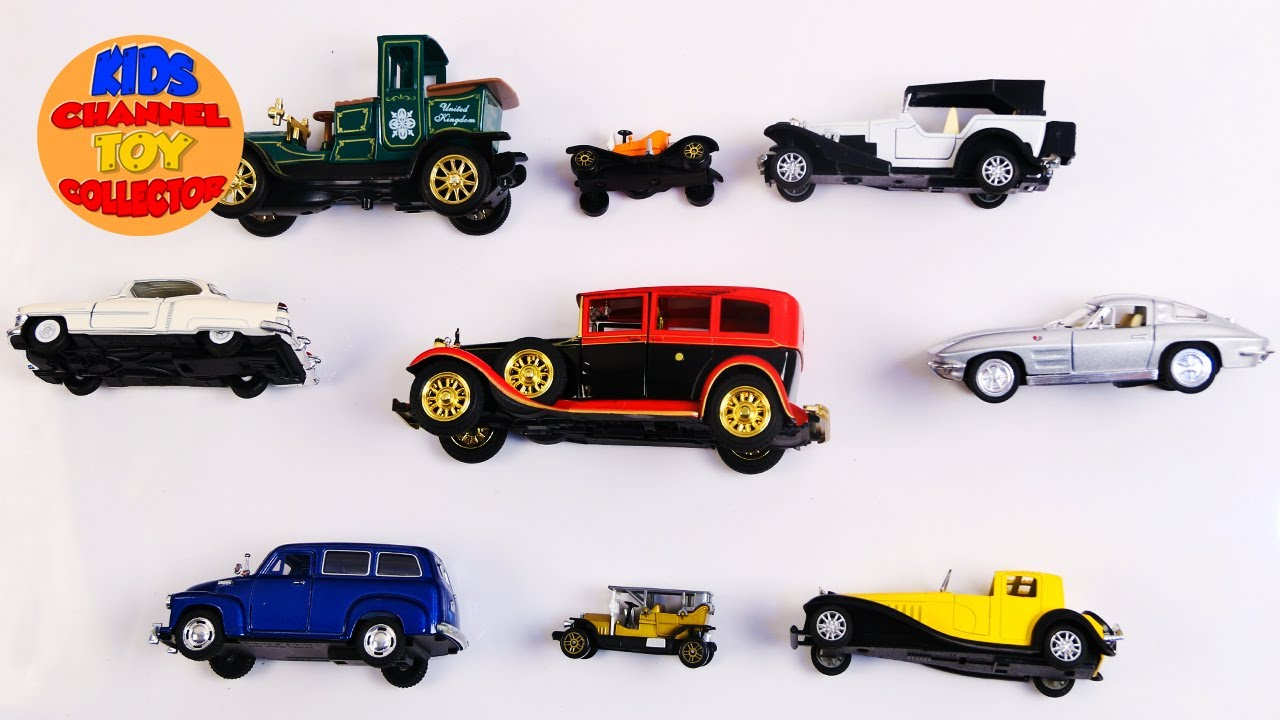 Learn Vintage cars For Kids Children Babies Toddlers | Vehicles For ...