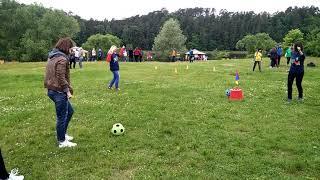 Как играет женская команда в  Footgolf, фут гольф? | 2025golf
