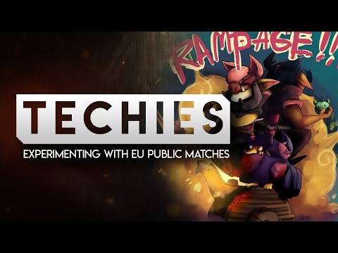 DOTA 2-- 7k TECHIES IN EU PUBS?-- Experimenting with EU public Matches