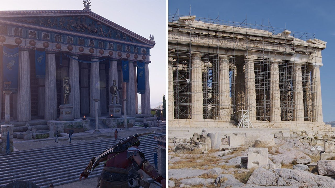 Assassin S Creed Odyssey Real Life Vs In Game Greece Youtube