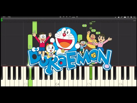 Doraemon - Doraemon no Uta - [Synthesia] Piano cover