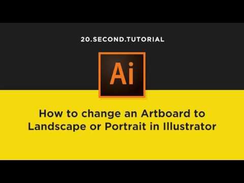 Rotate Canvas to Landscape or Portrait in Illustrator | Adobe Illustrator  Tutorial #8
