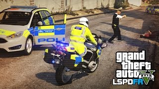 Met Police bike patrol on fast roads - GTA 5 LSPDFR: The British way #41