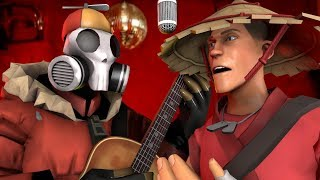 PyroJoe and SpikeyMikey craft the Greatest Hat in the World [TF2 Music Video]