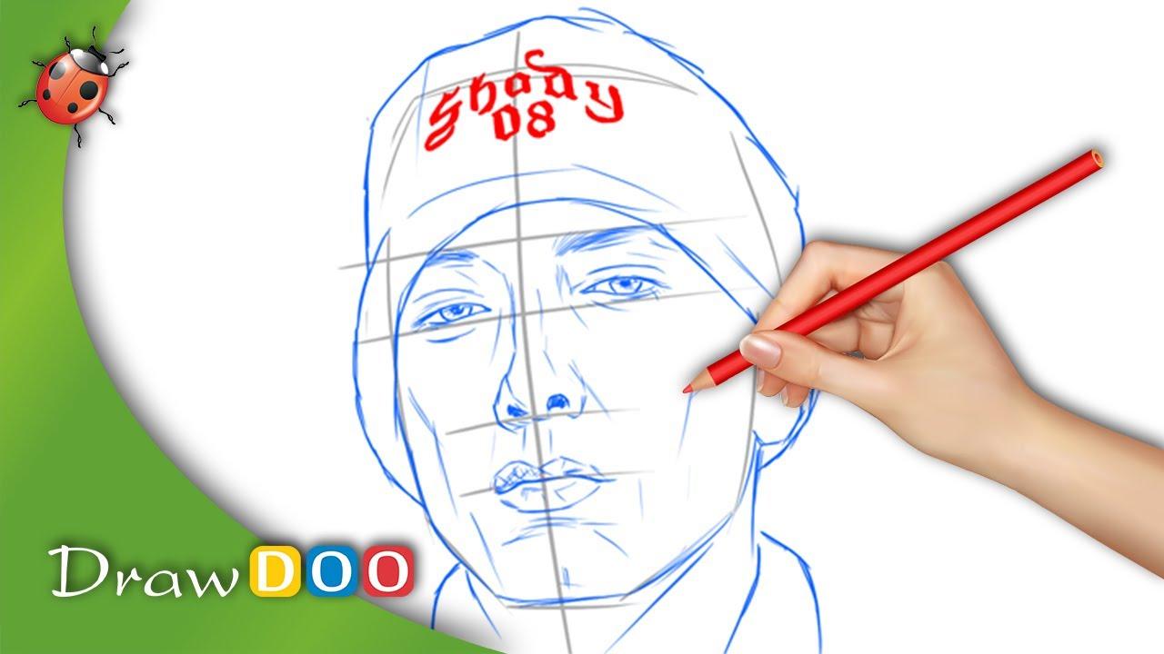 Eminem Slim Shady from Singers Drawing Tutorial - YouTube