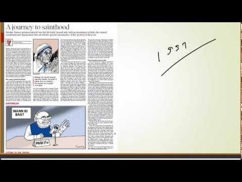 3 september, 2016 the Hindu Editorial Discussion