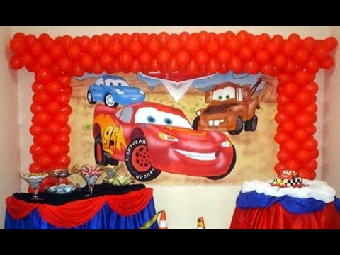 Como Decorar Una Fiesta Infantil De Cars Youtube