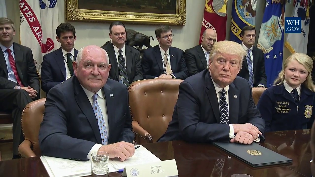 Trump Round Table.President Trump Participates In A Farmers Roundtable