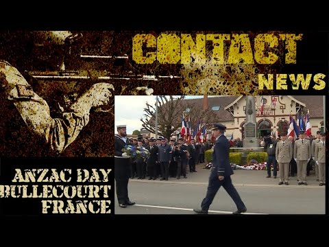 Anzac Day service in Bullecourt, France