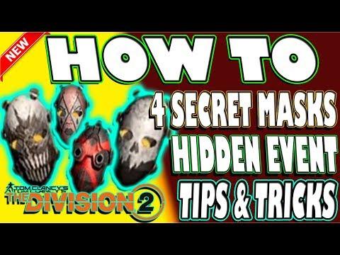 🆕 INCREDIBLE 4 SECRET MASKS | The Division 2 | DEATH MASK | SKULL MASK | DIAMOND MASK | CROSS MASK