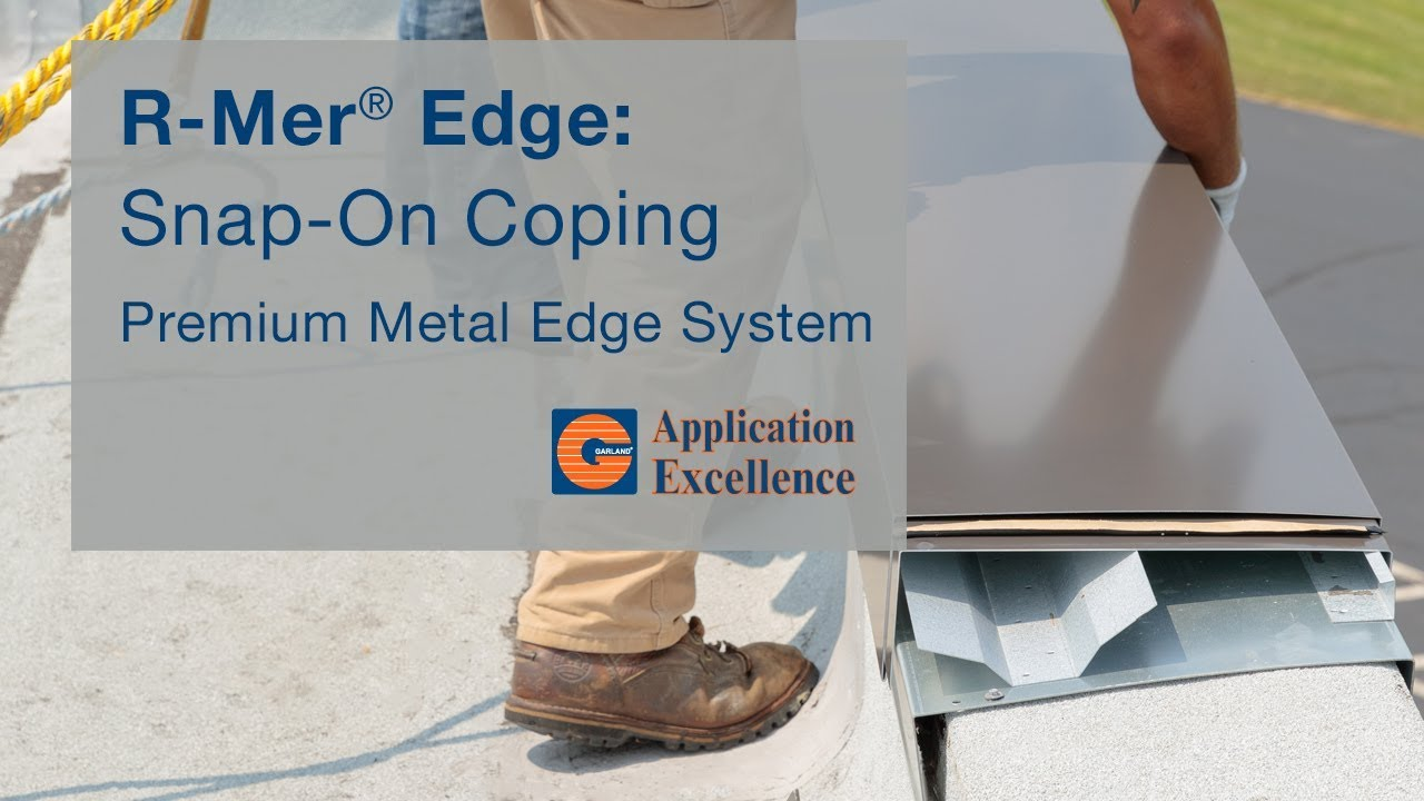 Metal Snap On Coping R Mer Edge Coping Application