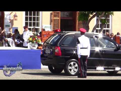 Police Commissioner Arrives  Peppercorn Ceremony Bermuda April 27 2011