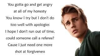 Justin Bieber sorry lyrics