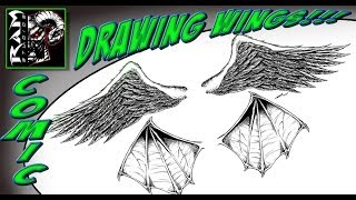 How To Draw Angel and Dragon Wings Video - Art by Robert Marzullo