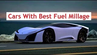 Top Cars With Most Efficient Fuel Millage