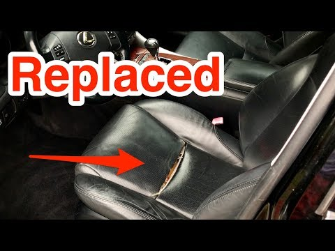 How to replace Lexus leather seat cushion cover.