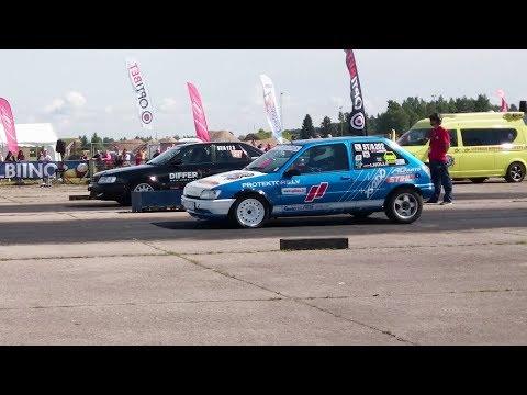 Ford Fiesta XR2i vs Audi S4 2.2t 20v Quattro 1/4 mile drag race