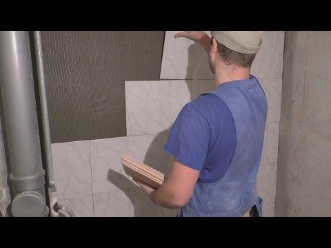 Укладка плитки в ванной за 3 часа!!!