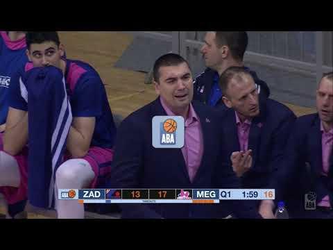 ABA Liga 2017/18, Round 21 match: Zadar - Mega Bemax (5.3.2018)