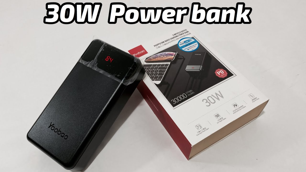 New 30W 30000mah Power Bank From Yoobao | is it Really Fast ?