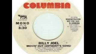 Billy Joel - Movin' Out Anthony's Song (1977)