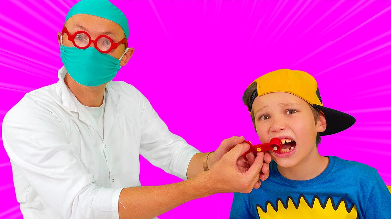 Katy ayuda a Max con un diente
