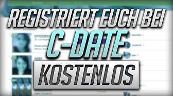 Bei c-Date kostenlos registrieren - Schritt-für-Schritt