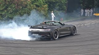 Mercedes-AMG GT R Roadster - DONUTS & ACCELERATIONS @ FOS Goodwood 2019