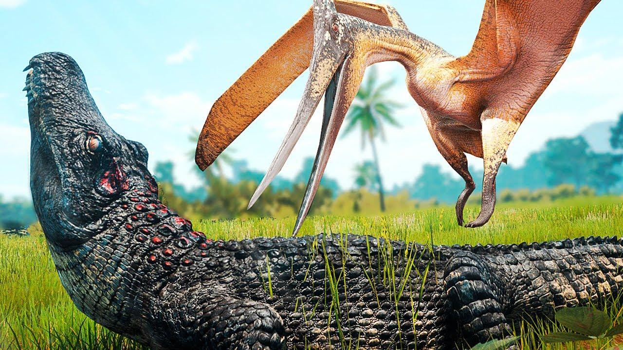 Download O Poderoso Deinosuchus + Utahraptor Corajoso! Território dos Pteras (#2)   The Isle Evrima   (PT/BR)