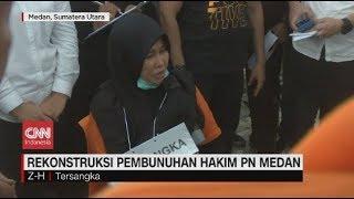 Diselingkuhi Ketika Hamil, Pengakuan Mengejutkan Rekonstruksi Pembunuhan Hakim PN Medan Jamaluddin