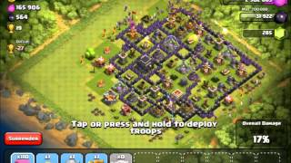 Clash of Clans- High loot farming raids! - Skull walls !