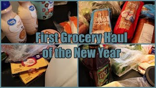 First Grocery Haul Of The Year! | Walmart Grocery Pick Up