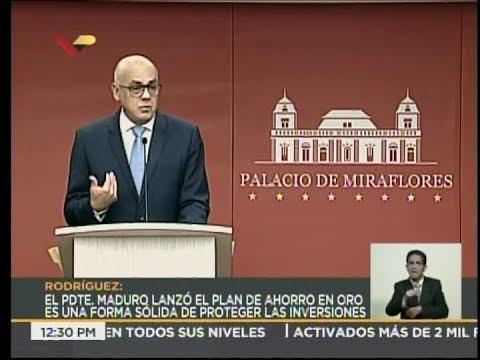 Jorge Rodríguez, rueda de prensa completa 29 agosto 2018: pensiones, migraciones, etc.