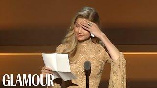 Gigi Hadid Gives Emotional Speech Receiving Her WOTY Award