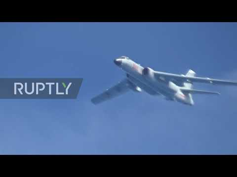 International Airspace: Russian bombers encounter South Korean fighter jets during air patrol