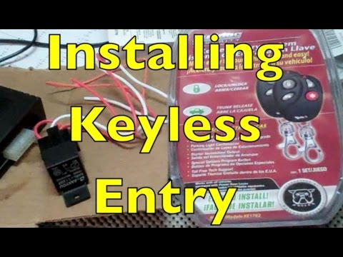 bulldog keyless entry system wiring diagram how to install keyless entry on a police car youtube  install keyless entry on a police car