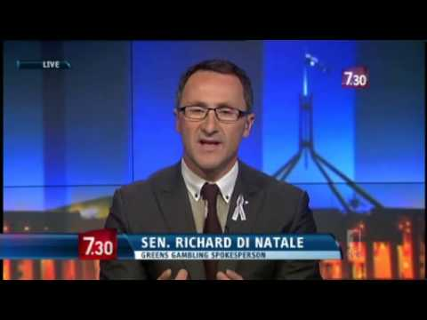 Pokies Reform - Richard Di Natale interviewed by Leigh Sales on ABC 7.30