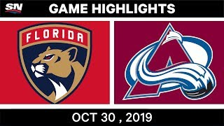 NHL Highlights   Panthers vs. Avalanche – Oct. 30, 2019