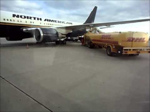 North American Airlines NAA Boeing 767 Fueling - Leipzig Halle International Airport, Germany
