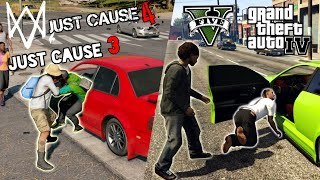 WHICH GAME HAS SMARTER NPCs (GTA 5 vs. Just Cause 4 vs. Watch Dogs 2 vs. GTA 4 vs. Just Cause 3)
