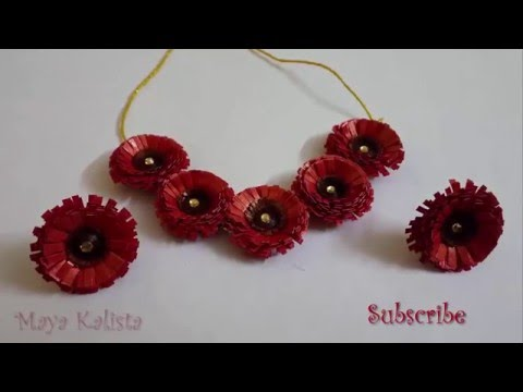 How to make paper quilling necklace flower jewelry set design how to make paper quilling necklace flower jewelry set design tutorial youtube mightylinksfo